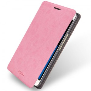 mofi-leather-case-for-oneplusx-pink